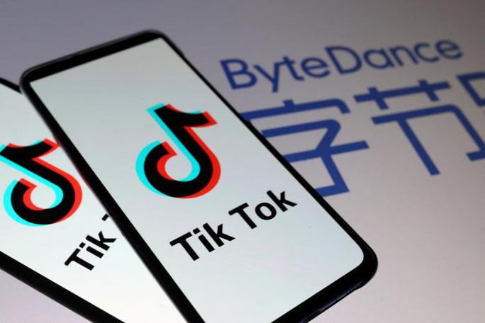 Tổng thống Mỹ cấm mọi giao dịch giữa Mỹ với ByteDance sở hữu ứng dụng chia sẻ video TikTok. Ảnh: Reuters
