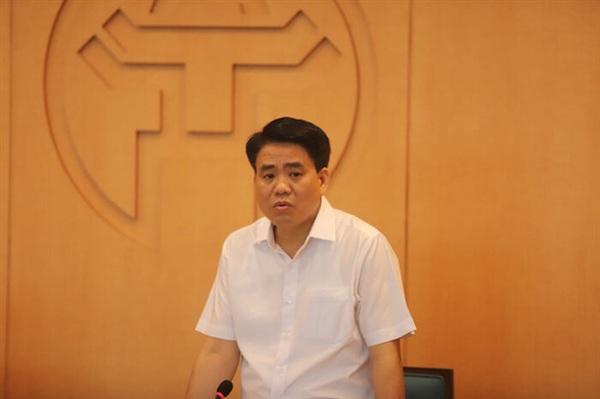 Chủ tịch UBND TP Hà Nội Nguyễn Đức Chung, trưởng Ban chỉ đạo phòng chống dịch bệnh COVID-19 TP Hà Nội. Ảnh Tuổi Trẻ