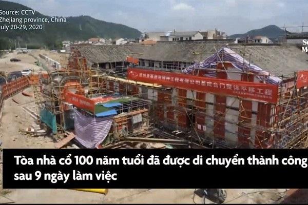 Di sản có niên đại 100 năm được di chuyển trong 9 ngày làm việc liên tục.