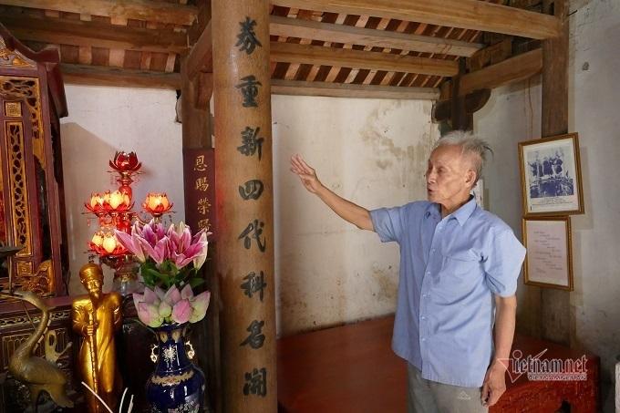 Ông Tùng - hậu duệ đời thứ 5 của cụ Nguyễn Khuyến.