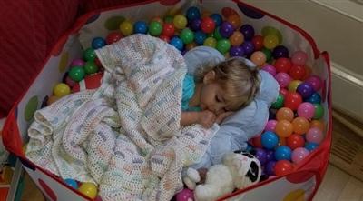Chỗ ngủ trưa lý tưởng mà con vừa khám phá ra.