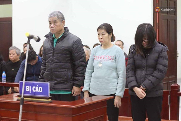 Các bị cáo trong phiên xét xử sơ thẩm trước đó. (Ảnh Ngọc Thắng).