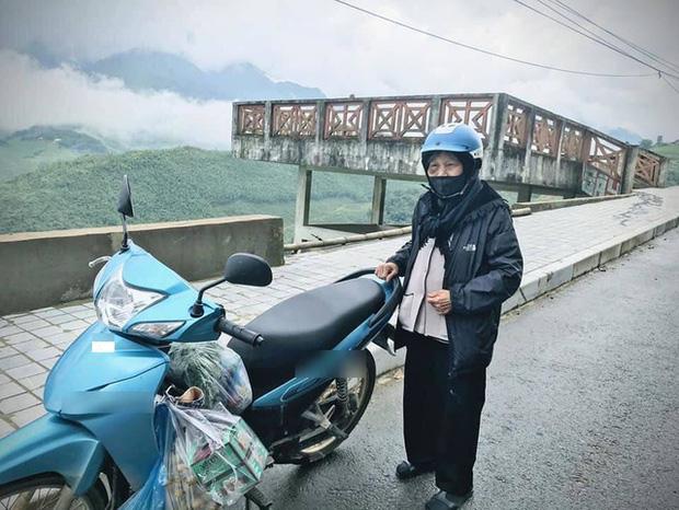 Hình ảnh của cụ bà khi đi phượt 200km lên Sapa.