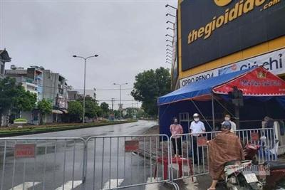 Phong tỏa kiểm soát chặt nhiều tuyến phố