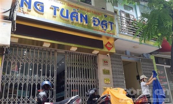 Tiệmvàng Tuấn Đạt, nơi kẻ gian đột nhập trộm 350 cây vàng.