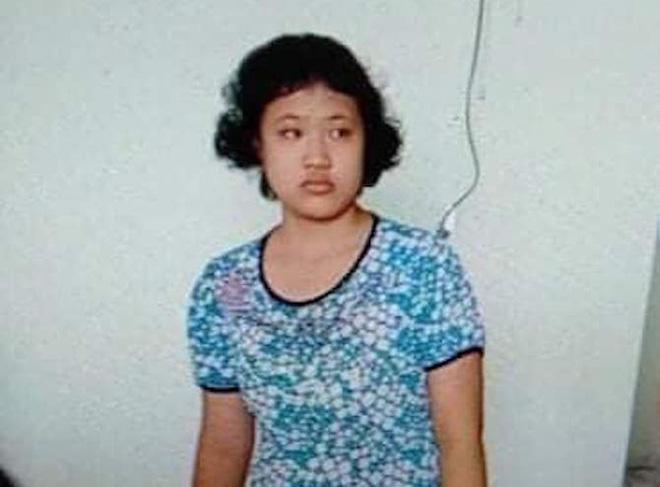 Hình ảnh cháu Quỳnh được gia đình đăng tải trên mạng xã hội để nhờ tìm kiếm.