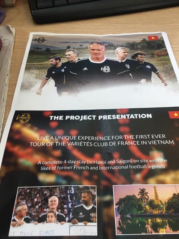 Dự án Đội bóng đá cựu tuyển thủ Pháp sang Việt Nam