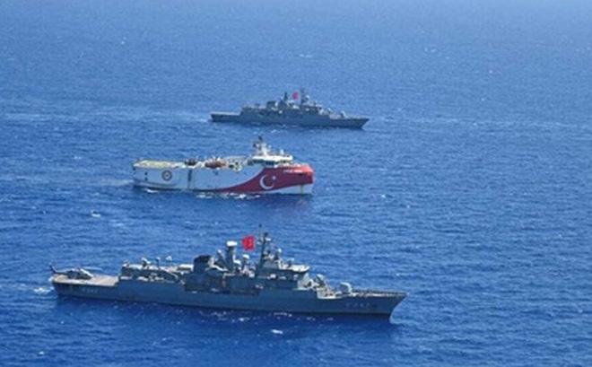 Thổ Nhĩ Kỳ và Hy Lạp hiện đang cùng áp dụng chính sách pháo hạm tại vùng biển phía Đông Địa Trung Hải. Nguồn: CNN.