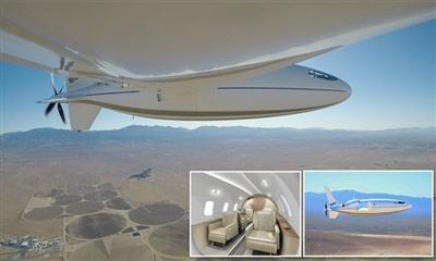 Chiếc máy bay cá nhân này có sức chứa 6 người và hứa hẹn bay với tốc độ máy bay phản lực nhưng tiêu hao năng lượng thấp hơn 8 lần. Ảnh: Otto Aviation
