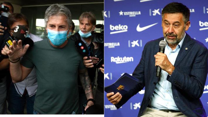 Ông Jorge Messi (trái) và Chủ tịch Barca đều rất cứng rắn