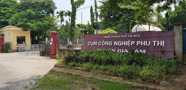 Khu công nghiệp Phú Thị, nơi xảy ra vụ nổ.