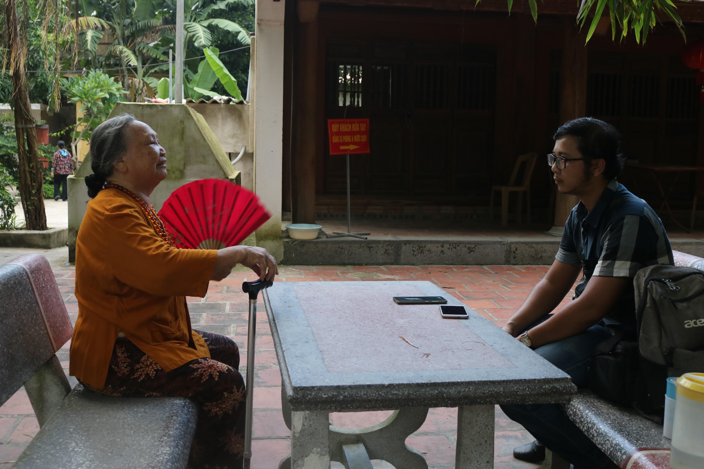 Bà Trịnh Thị Phương Lâm, người được gọi là cụ Trùm của câu lạc bộ hát Dậm người cao tuổi Quyển Sơn, Chủ đội tế lễ tại đền Trúc chia sẻ với PV Người Đưa Tin Pháp Luật