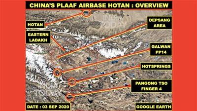 Tổng quan Căn cứ Không quân Hotan của Quân đội Trung Quốc. Ảnh: India Today