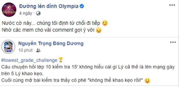 Dòng trạng thái hài hước của quán quân Olympia - Nguyễn Trọng Đăng Dương.