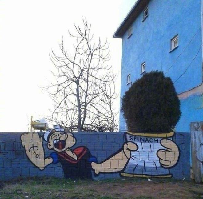 Có lẽ bức tường này sẽ gợi lại nhiều ký ức tuổi thơ với bất kỳ ai trong số chúng ta.