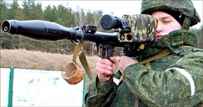 Súng chống tăng Ovod-R của Belarus với kính ngắm ''thông minh' PD-7. Ảnh: Naviny.by.