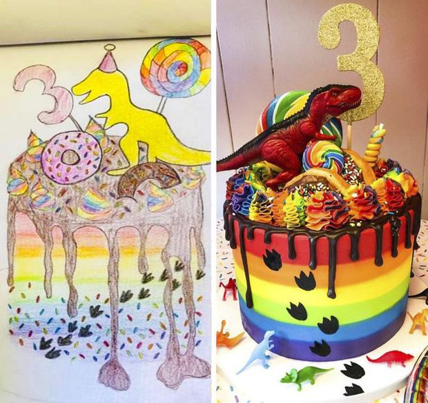 Vẽ nhí nhố mà cửa hàng vẫn hoàn thiện chiếc bánh rất xuất sắc