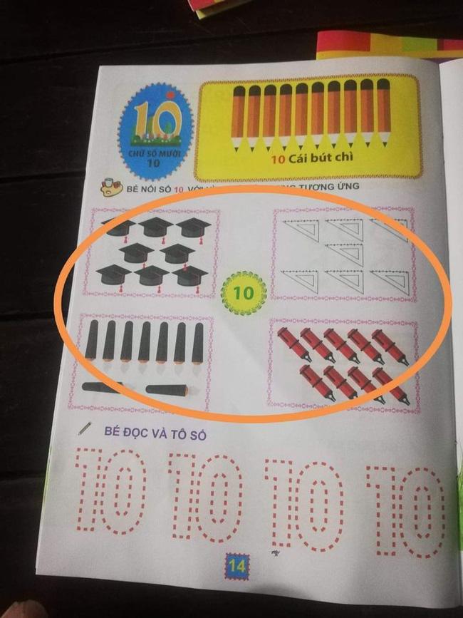Yêu cầu nối số 10 nhưng tìm đỏ mắt không thấy hình minh họa nào phù hợp với số 10.