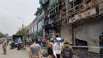 Hiện trường vụ cháy phòng giao dịch Eximbank