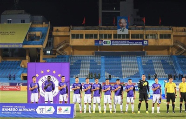 Trận chung kết giữa Hà Nội FC với Viettel ở chung kết cúp Quốc gia 2020 diễn ra lúc 18 giờ ngày 20/9 tới và nhiều khả năng chứng kiến khán giả tới theo dõi trên khán đài. (Ảnh: VPF)