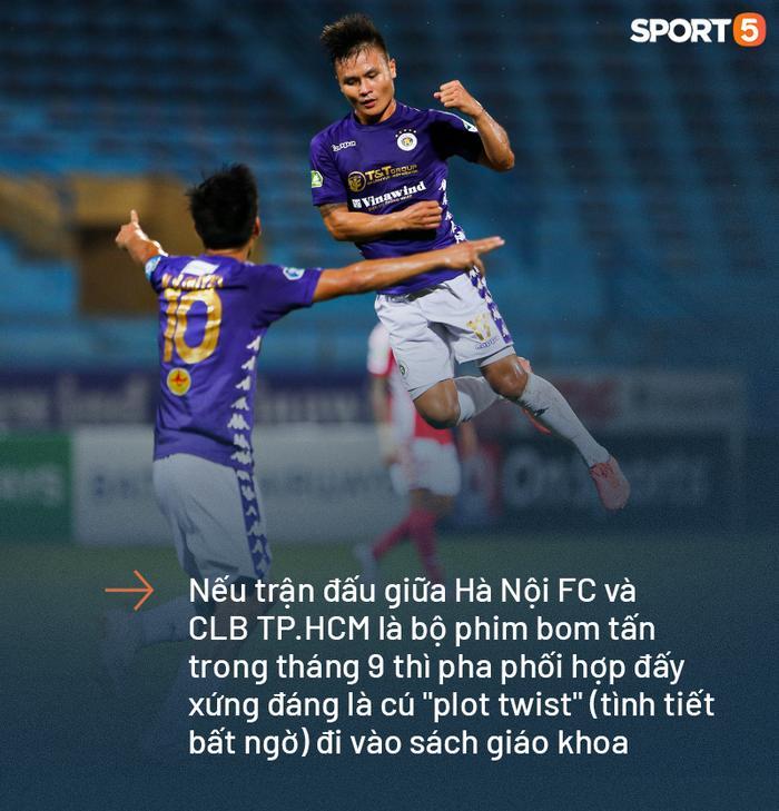 Quang Hải bay cao trong tuần này khi in dấu giày trong 7 bàn thắng chỉ sau 2 trận đấu cho Hà Nội FC (Ảnh: Hiếu Lương)