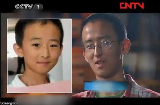 Nam thần đồng xuất hiện trên sóng Đài truyền hình Trung Quốc.