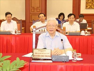 Tổng Bí thư, Chủ tịch nước Nguyễn Phú Trọng phát biểu chỉ đạo