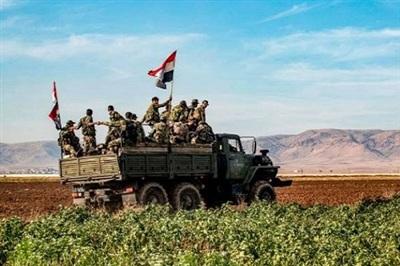 Binh sĩ quân đội Syria. Ảnh: AMN