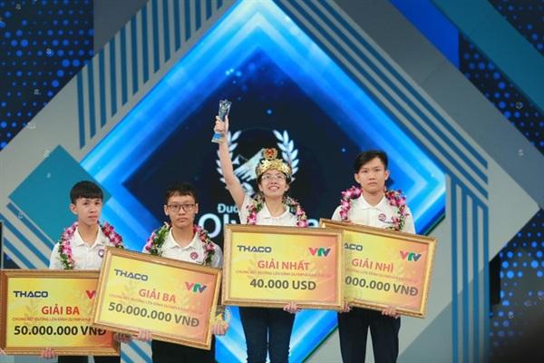 Nguyễn Thị Thu Hằng đạt giải quán quân Đường lên đỉnh Olympia năm thứ 20.