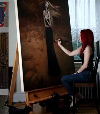 Nữ họa sĩ quyết tâm hơn bao giờ hết với hy vọng sớm có thể toàn tâm toàn ý với nghệ thuật.