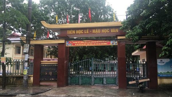 Trường THCS Thị Trấn (thị xã Nghi Sơn, tỉnh Thanh Hóa). Ảnh: Báo Pháp luật Việt Nam