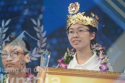 Thu Hằng đăng quang Quán quân Đường lên đỉnh Olympia 2020.