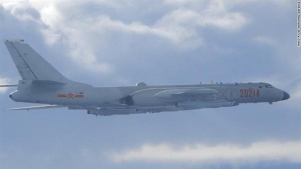 Cơ quan phòng thủ Đài Loan cung cấp hình ảnh máy bay ném bom H-6 của Không quân Trung Quốc (ảnh: CNN)