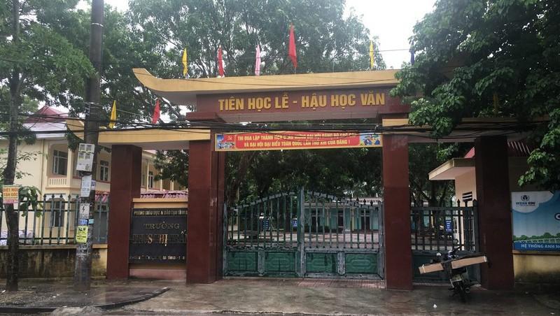 Trường học nơi cháu M.A và nhóm bạn theo học (Ảnh: PLVN)