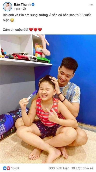 Sau bao ngày chờ đợi, gia đình của Bảo Thanh thông báo tin vui của bé thứ 2