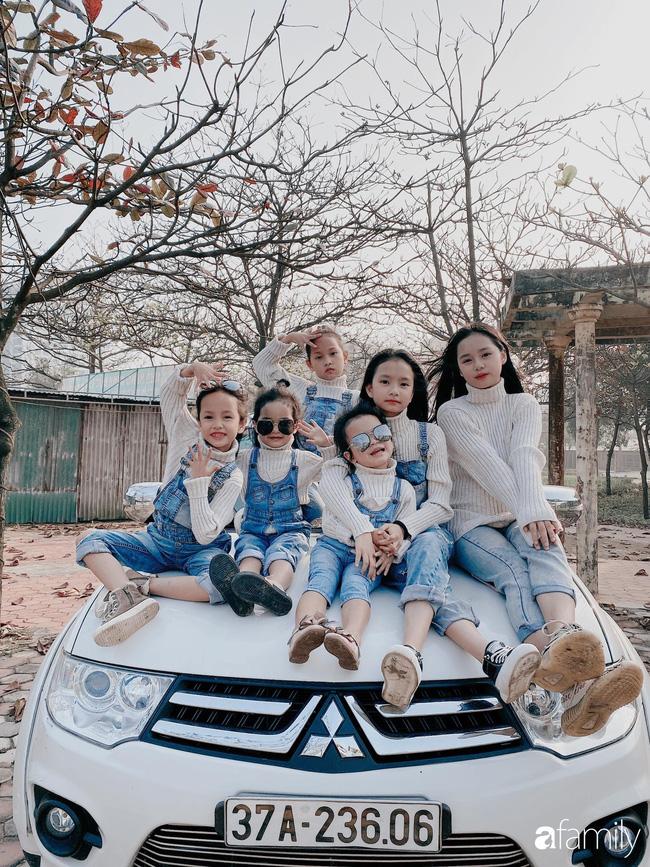 6 cô con gái của chị Vân cực kỳ đáng yêu, bé nào cũng xinh như hoa.