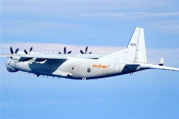 Một máy bay quân sự Trung Quốc bị phát hiện xâm nhập vùng nhận diện phòng không Đài Loan. Ảnh: Lực lượng phòng vệ Đài Loan