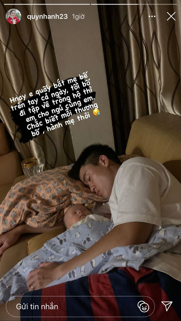 Quỳnh Anh than thở vì con trai chỉ thương bố, hành mẹ (Ảnh chụp màn hình)