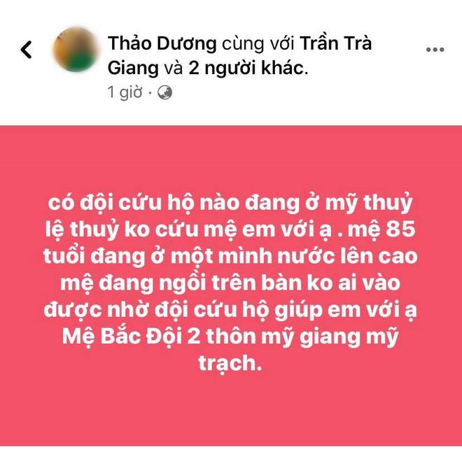 Nhiều người ở Quảng Bình lên mạng xã hội cầu cứu trong đêm