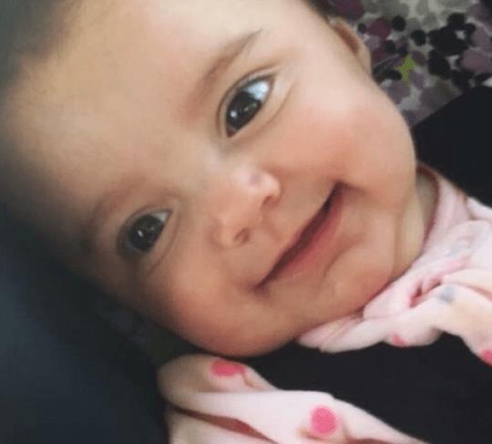 Bé gái người Mỹ Brynley Rymer, 5 tháng tuổi, tử vong năm 2018 sau khi bị rung lắc dữ dội.