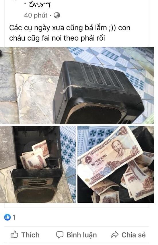 Một chia sẻ hài hước về việc cất giấu tiền quá kỹ trong bộ loa nên quên bẵng đi,đến lúc tìm thấy thì món tiền đó trở nên mất giá.