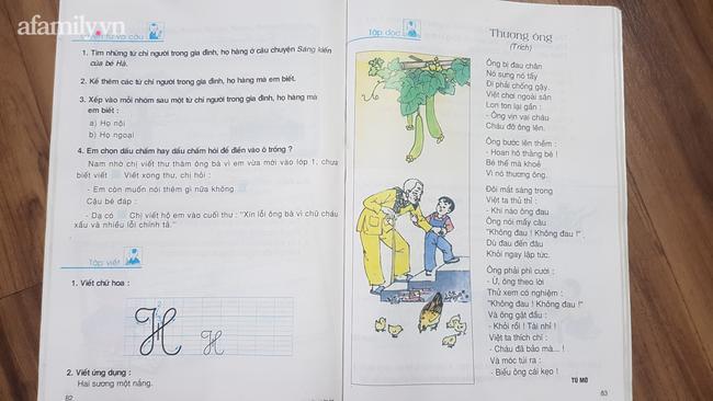 Bài thơ Thương ông xa lạ trong sách tiếng Việt lớp 2 tập 1 hiện hành.