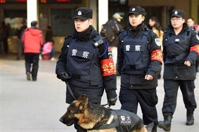Cảnh sát Trung Quốc. (Ảnh: Tân Hoa Xã)