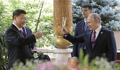Hai nhà lãnh đạo Tập Cận Bình và Vladimir Putin. Ảnh: AP