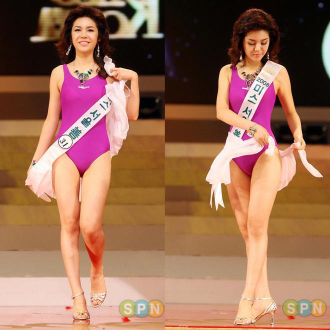 Hoa hậu Hàn Quốc 2008 Seon Nari (1m68) không chỉ bị chê bai về nhan sắc mà còn cả chiều cao chưa đạt chuẩn