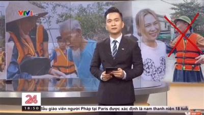 Hình ảnh từ chương trình thời sự của VTV 24 bị Huấn 'hoa Hồng' cắt ghép giả mạo (ảnh cắt từ clip)