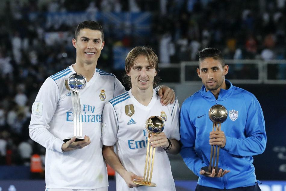 Modric cho biết, Ronaldo đã vui vẻ chúc mừng khi anh nhận Quả bóng vàng 2018