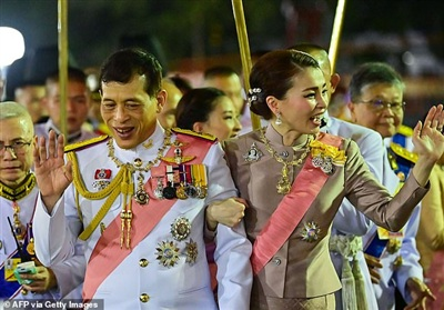 Nhà vua Thái LanMaha Vajiralongkorn và Hoàng hậu Suthida. Ảnh: Getty
