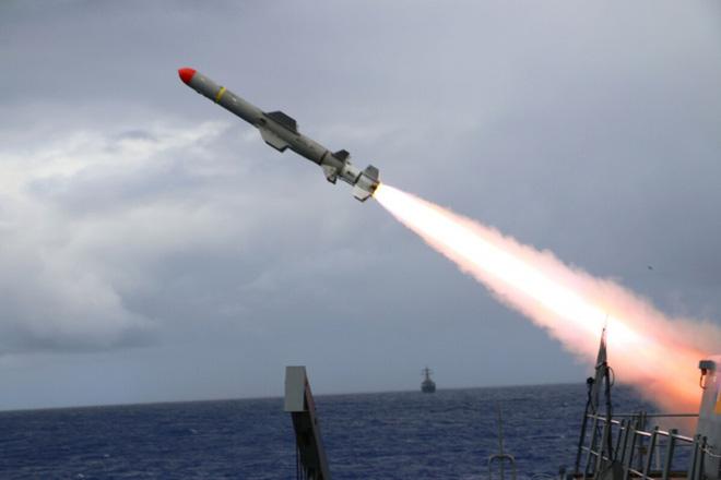 Tên lửa Harpoon. Ảnh: Hải quân Mỹ