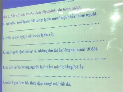 Bài tập hoàn thành câu siêu khó.